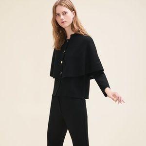 Maje Montreaux Short Cape-Style Cardigan